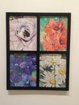 Elizabeth Harris: Flower Series, Watercolor Pencils and Ink Pen - Julie Shipp, Drawing I