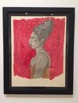 Machaela Page: Nina Simone, Ebony Pencil, India Ink (Gold and Red) - Theresa Traweek, Drawing II