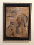 Megan Edinger: Ode to da Vinci, Acrylic, Charcoal and Coffee - Carrie Garrott, Drawing I