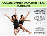 Collin Summer Dance Festival- July 15th-19th, 2019.