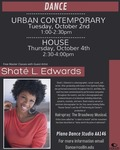 Shate L. Edwards Master Classes- October 2nd and October 4th, 2018