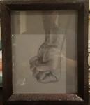 Preparatory Sketch  - 2017 Graphite and White Chalk on Paper 7 1/2 x 6 inches