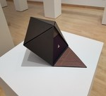 Neal Cox- Decahedron Camera. Book board, book cloth, metal, 2013