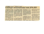 College renovations cost $76,000