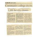 Community college draws 1,101 for city classes by Mark Weaver