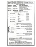 Fall 1985 Registration Schedule