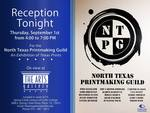 .North Texas Printmaking Guild Reception Poster