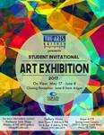 Student Invitational Art Exhibition 2017 poster