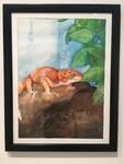 Aubrey Tinch - Tajin the Gecko - Watercolor, Mixed Media - Watercolor I, Longhui Zhang