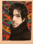 Madalyn Jecker - Syd Barrett - Gouache, Charcoal - Drawing I, Jennifer Seibert